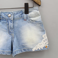 Lacy Light Blue Shorts