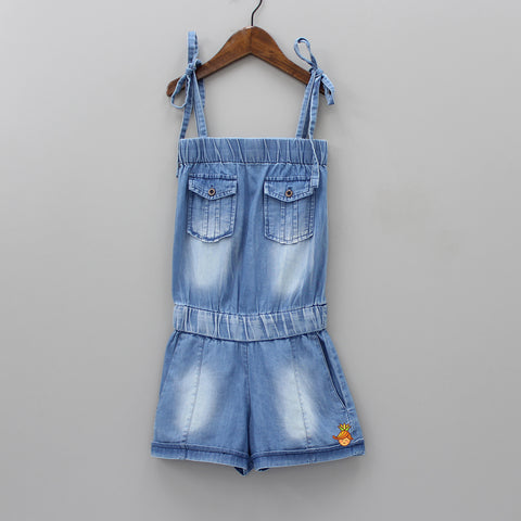 Denim Blue Strapy Dungaree