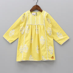 Yellow Floral Printed Kurta And Palazzo