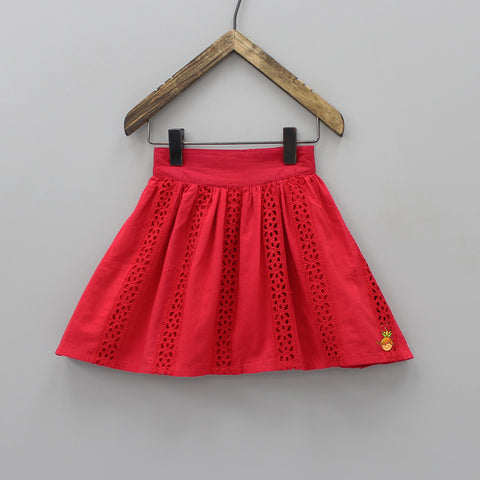 Organic Stylish Red Skirt