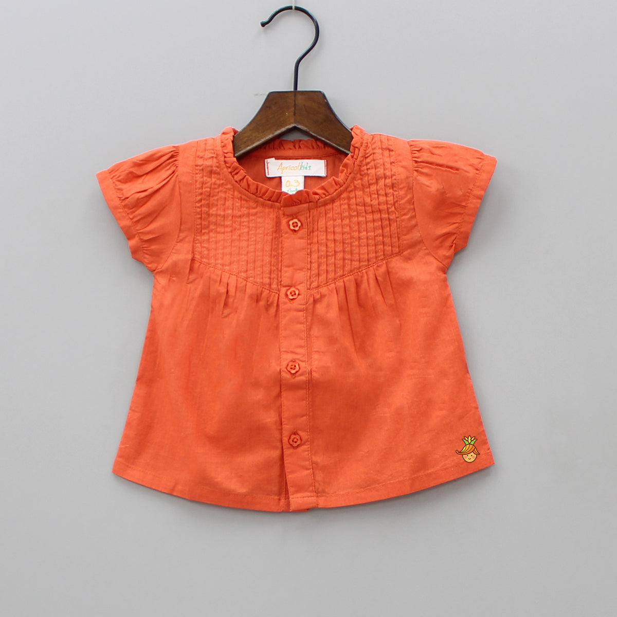 Organic Pintuck Work ORange Top