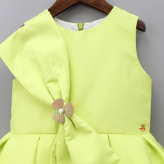 Lime Green Bowy Dress