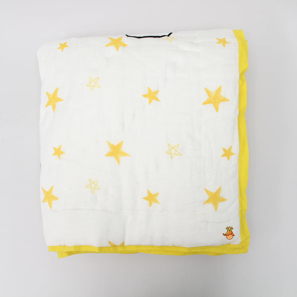 Yellow Star Print Jaipuri Rajai Blanket