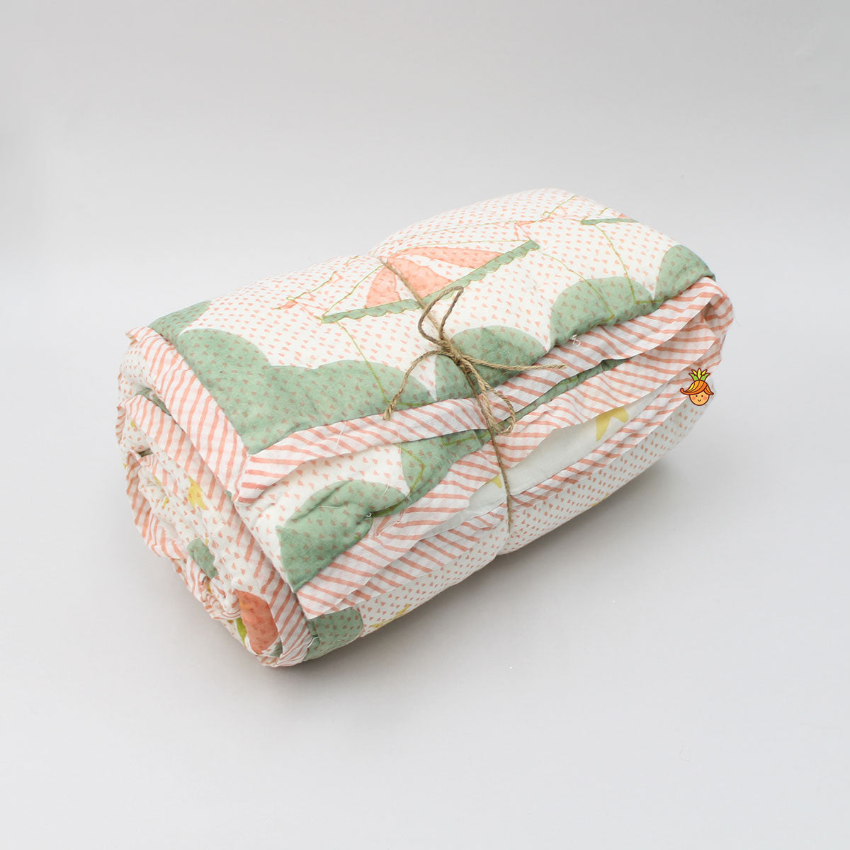 Peach Colour Toddler Jaipuri Rajai Blanket