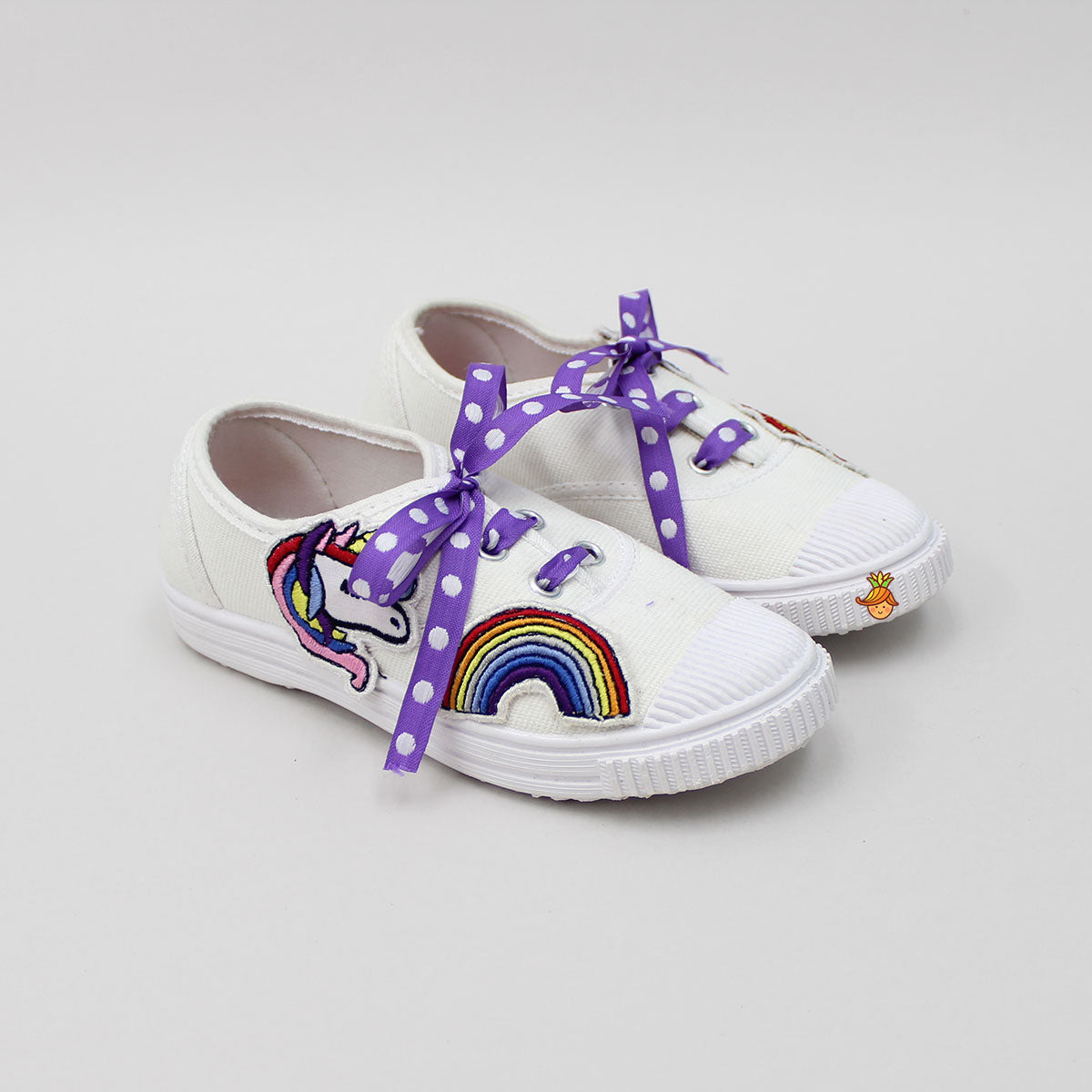 Unicorn Patch White Shoes