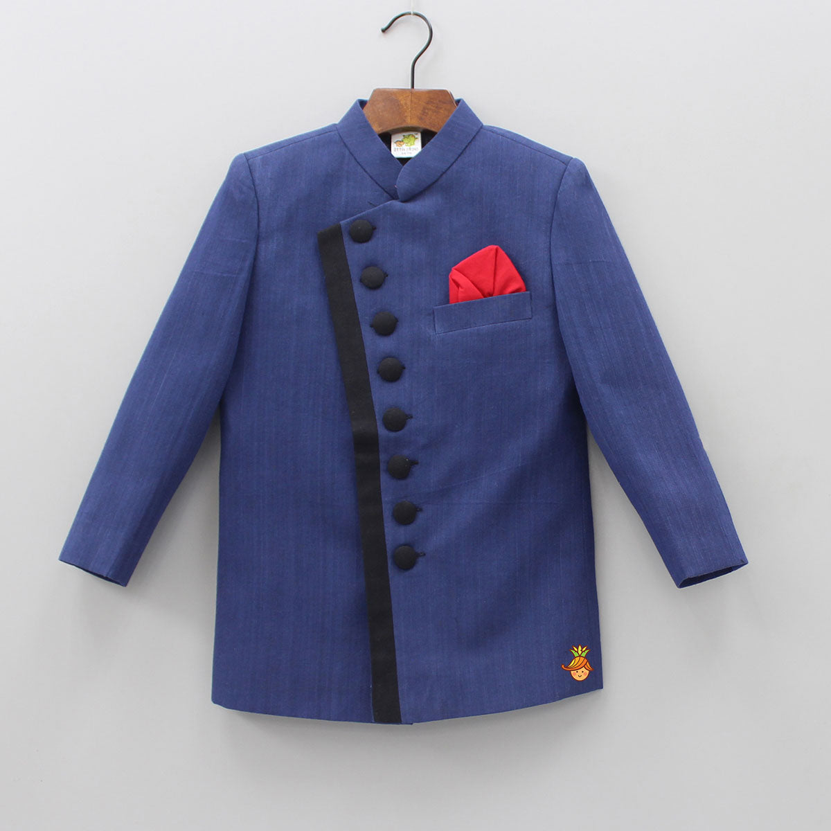 Stylish Dark Blue Band Gala Blazer