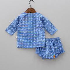 Organic Floral Print Jhabla And Bloomer Set