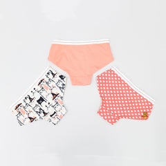 Kitty And Polka Set Of 3 Underwear