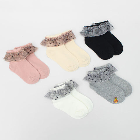 Net Frill Socks - Set Of 5