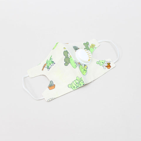 Cactus Print Cotton Filter Mask