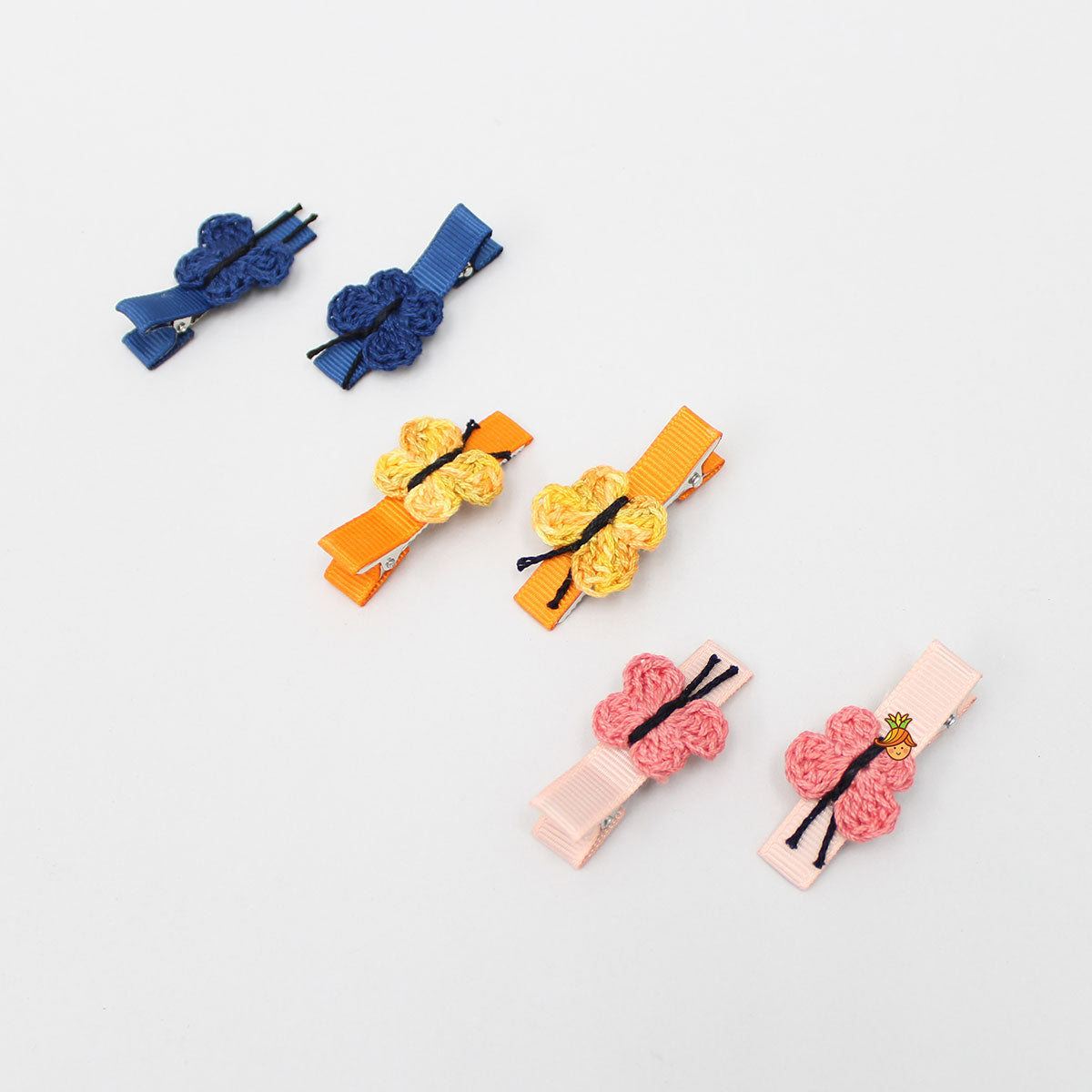 Small Butterfly Alligator 6 Clip Set - 3