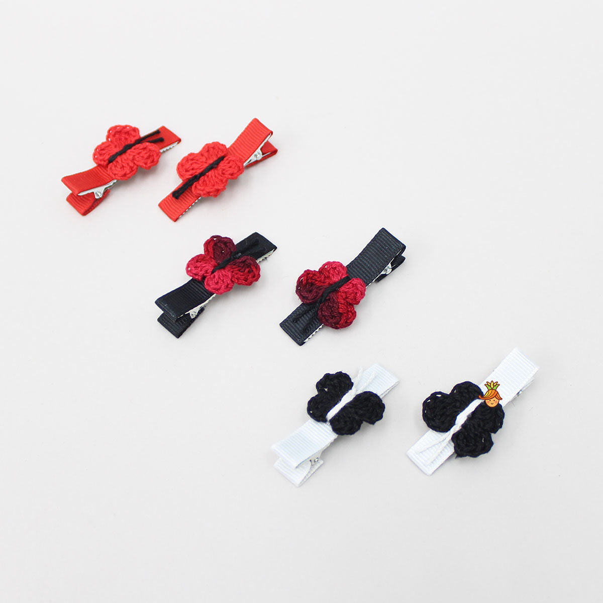 Small Butterfly Alligator 6 Clip Set - 4