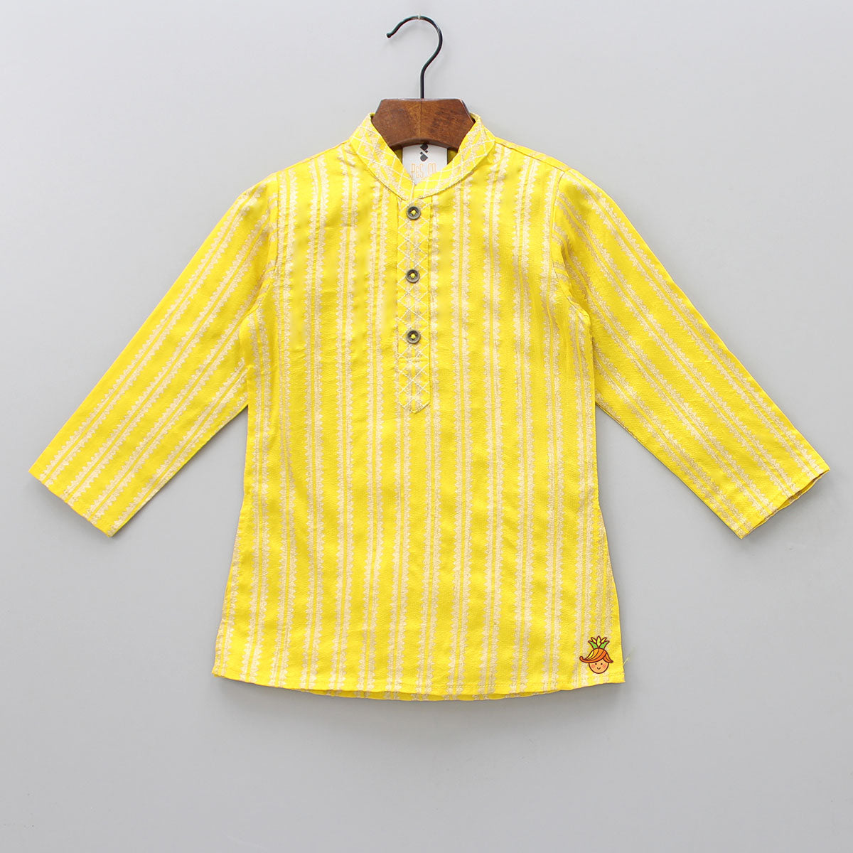 Pre Order: Stripped Yellow Kurta