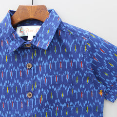 Printed Blue Shirt