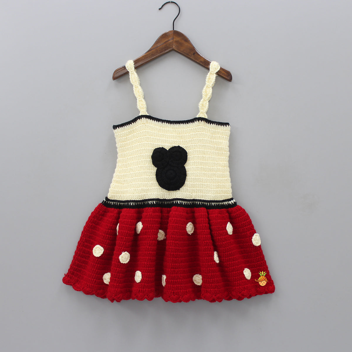 Mickey And Polka Knitted Dress