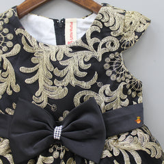 Black Thread Work Dress