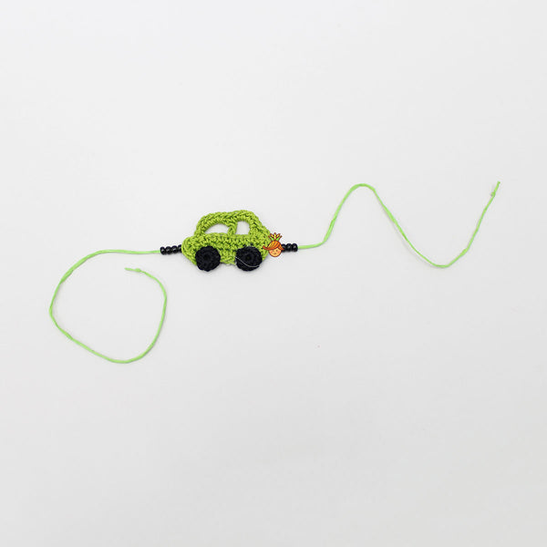 Hand Crochet Car Rakhi - Green