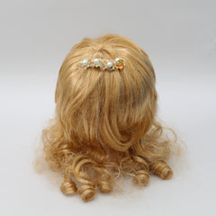 Pearls And Crystals Hair Clip - Set Of 2