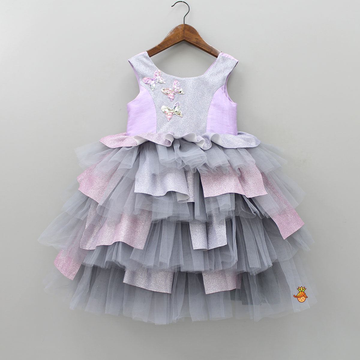 Pre Order: Purple and Grey Shimmer Party Dress
