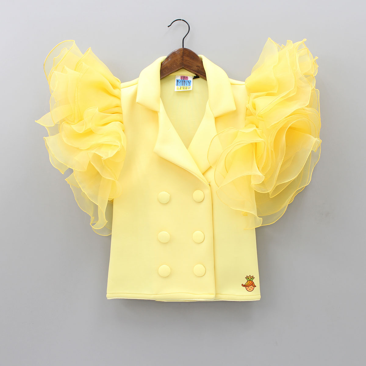Pre Order: Coat Style Yellow Dress