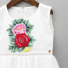 Pre Order: Floral Embroidered White Dress