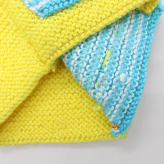 Yellow And Blue Knitted Sweater
