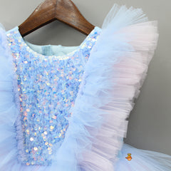 Pre Order: Pink And Blue Party Dress