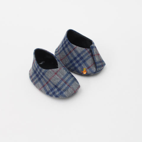 Pre Order: Grey Checks Pattern Booties