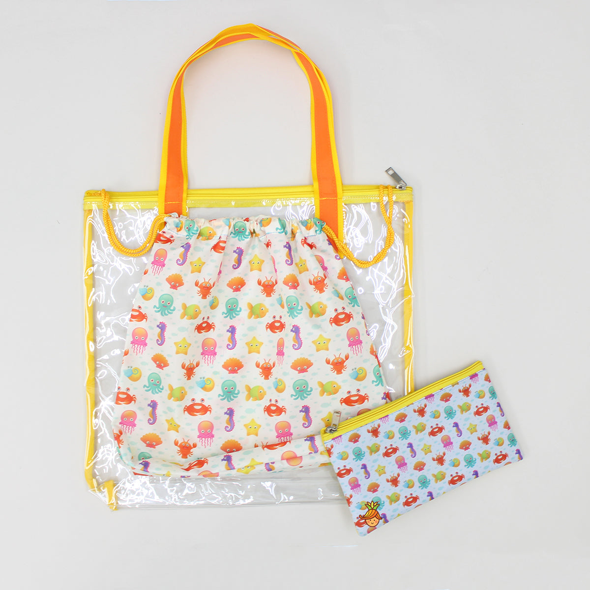 Marine Animal Print Waterproof Swimwear Bag