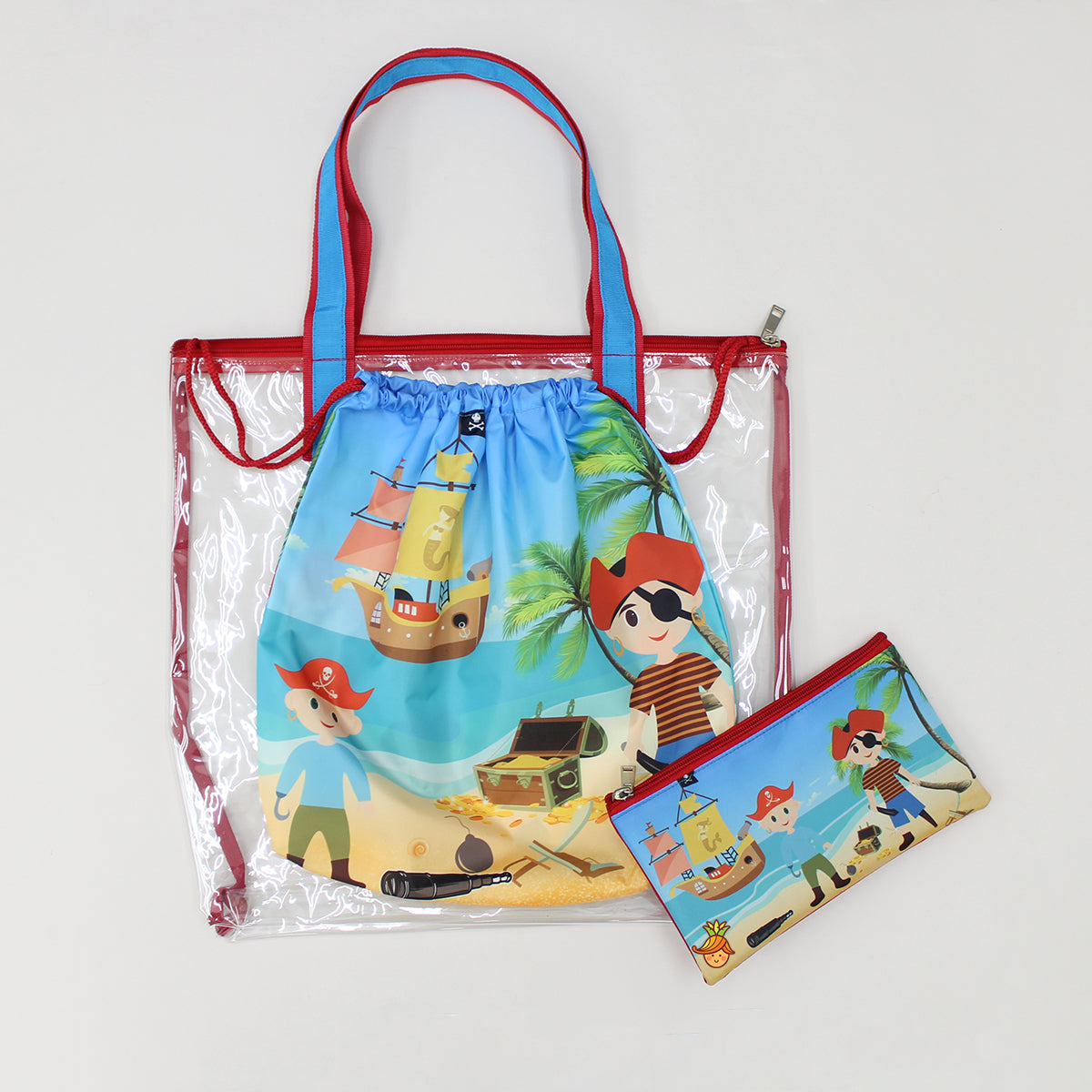 Pirate Print Waterproof Swimwear Bag