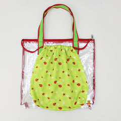 Lady Bug Print Waterproof Swimwear Bag