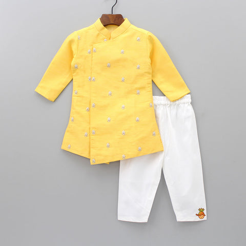 Pre Order: Yellow Kurta And Pyjama