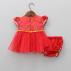 Pre Order: Dress With Under Pants And Booties With Headband