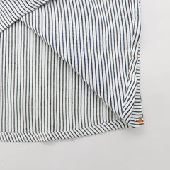 Handwoven Black And White Striped Shirt