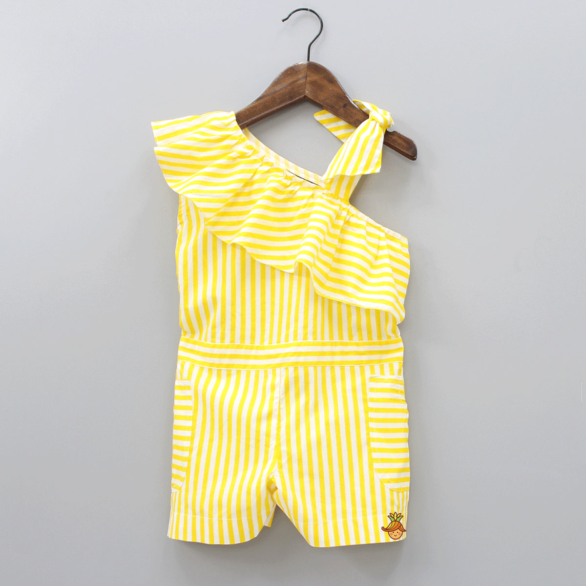 Pre Order: Striped Printed Short Jumpsuit