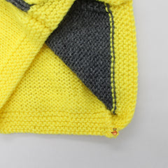 Yellow And Grey Knitted Sweater