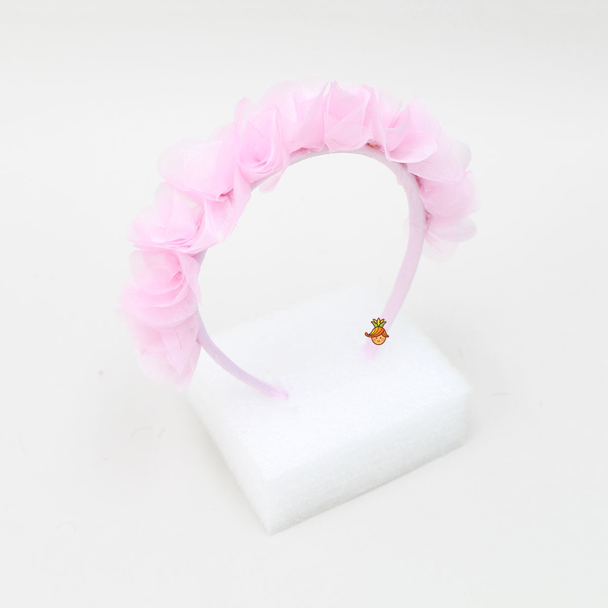 Organza Flowery Hair Band - Lilac