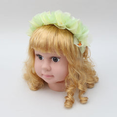 Organza Flowery Hair Band - Yellow And Green