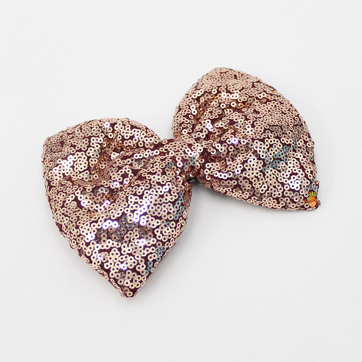 Sequin Bow Hair Clip - Golden