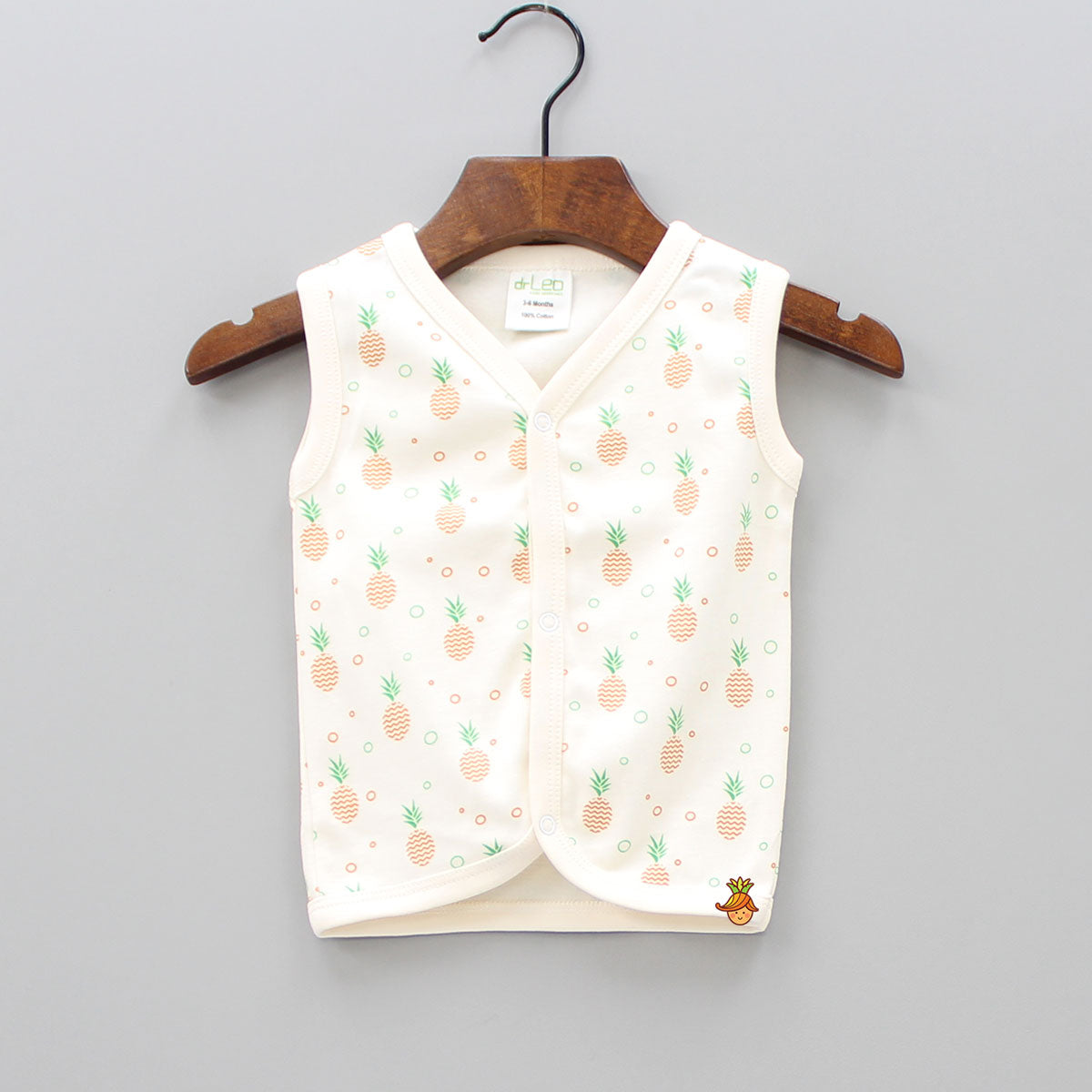 Pineapple Print Sleeveless Jhabla