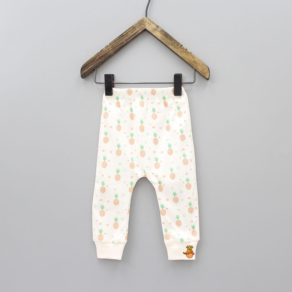 Pineapple Print Rib Pants