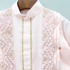 Pre Order: Embroidered And Abhla Work Kurta With Dhoti