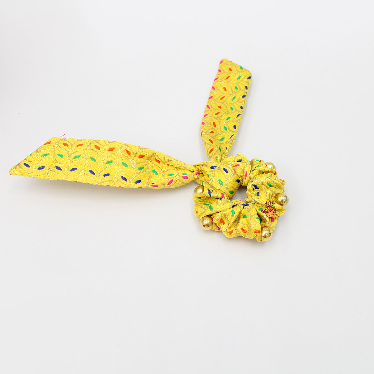 Floral Yellow Hair Ties