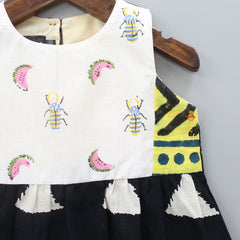 Melon And Bee Hand Block Printed Top