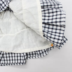 Checks Crop Top And Tiered Skirt Set
