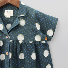 Pre Order: Polka Print Dress With Hair Tie