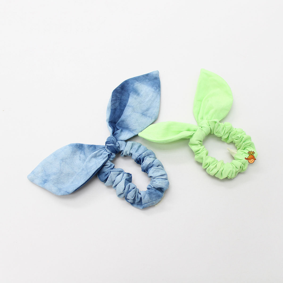 Bowy Cotton Hair Ties - Set Of 2