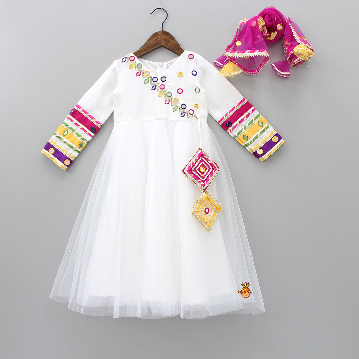 Pre Order: Mirror Work Anarkali With Dupatta