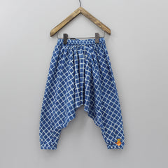 Lattice Print Harem Pants