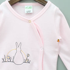 Bunny Embroidered Full Sleeves Cotton Jhabla